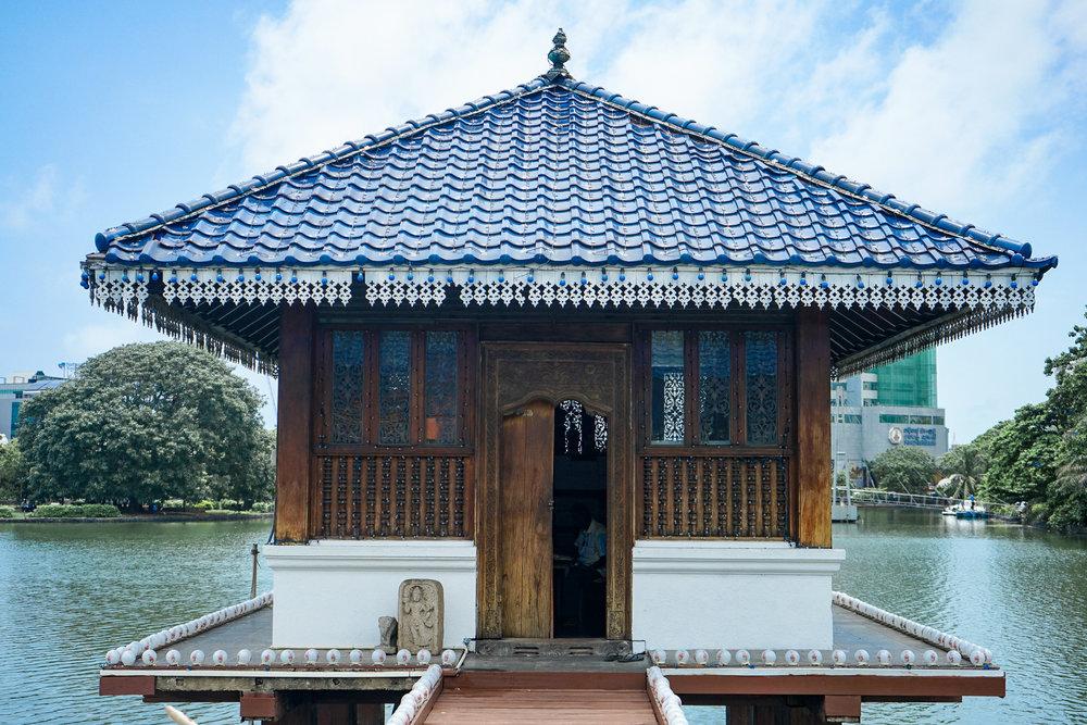 The hall housing Buddhist texts