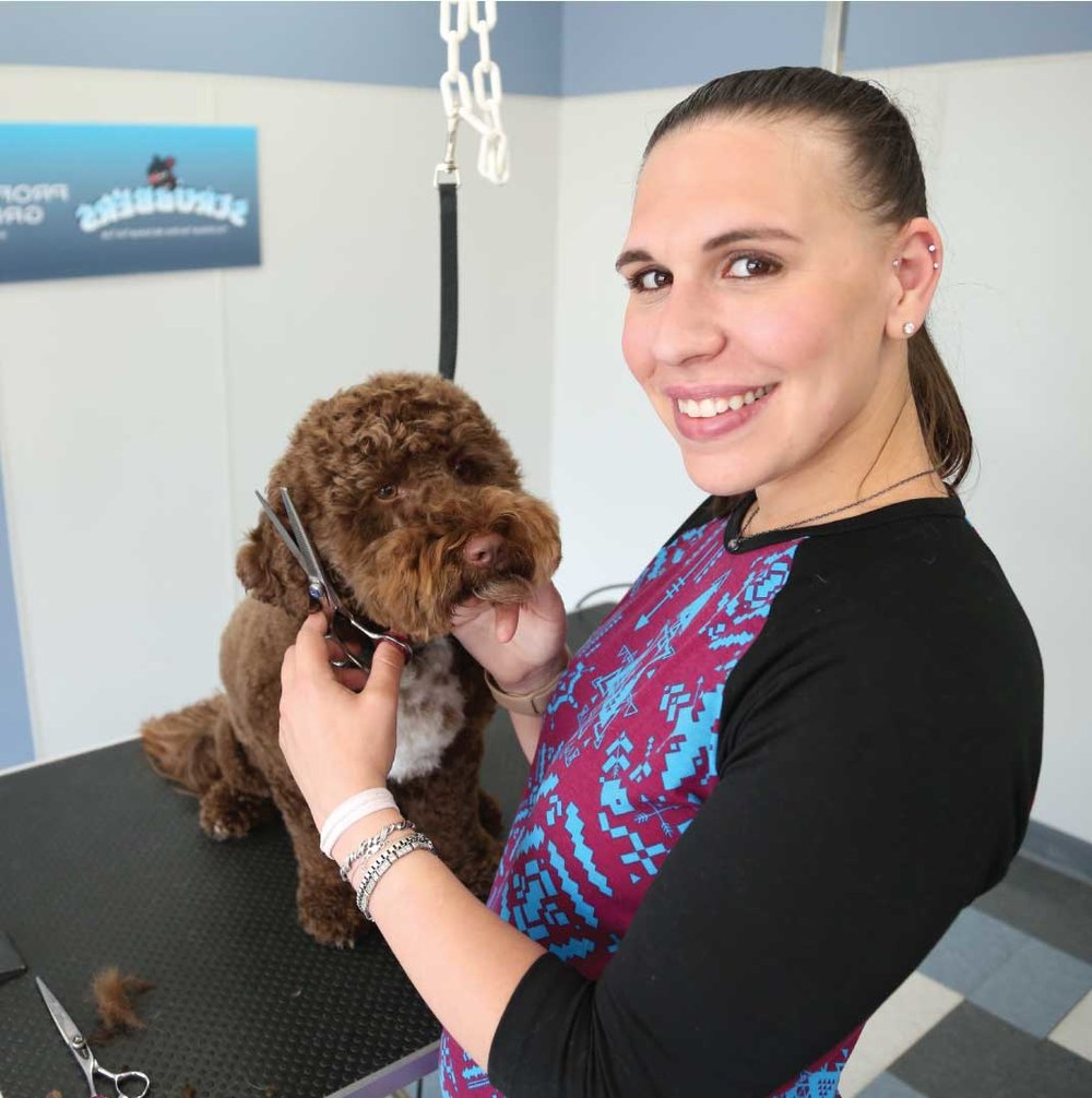 - Scrubbers Self-Serve Dog Wash & Grooming is a state-of-the-art professional grooming facility designed for EVERY pet owner. You can do-it-yourself or we offer professional all-breed dog and cat grooming services in a clean, calm, and caring environment. Either way, your pet is happy and healthy because they receive the one-on-one personal attention they deserve!