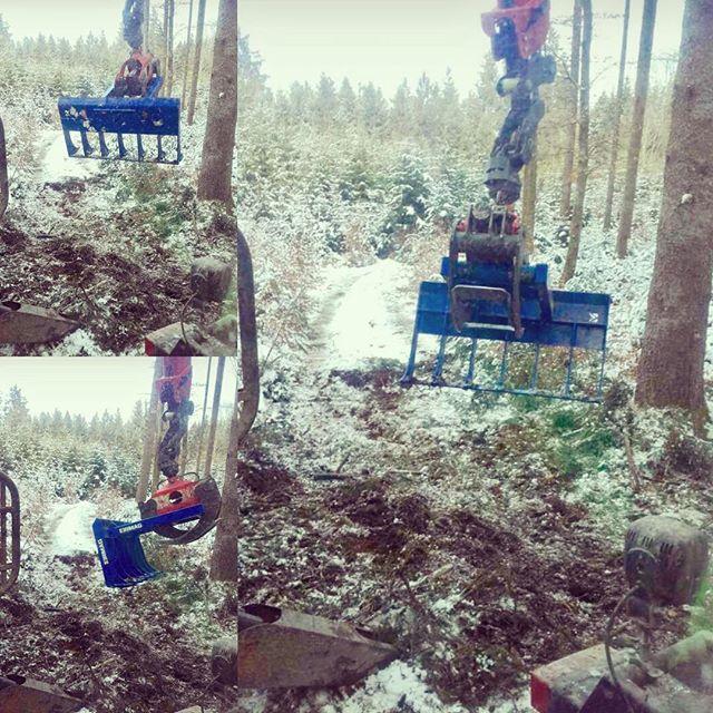Winterwunderland #logging#stepa#winter#forstwirt#kirmag#reisigrechen #reisigrechenM#rückeanhänger