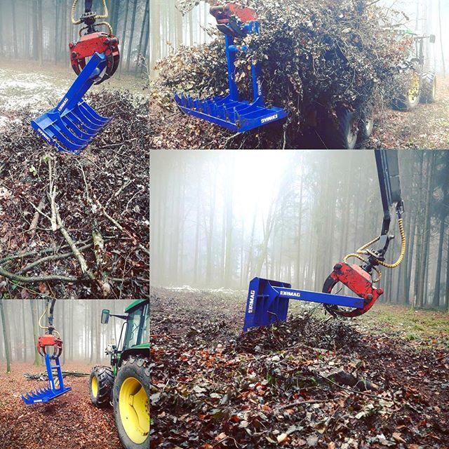 Tidy clean up! #kirmag #reisigrechen #forstwirt #harvester #forwarder #rückewagen #logging