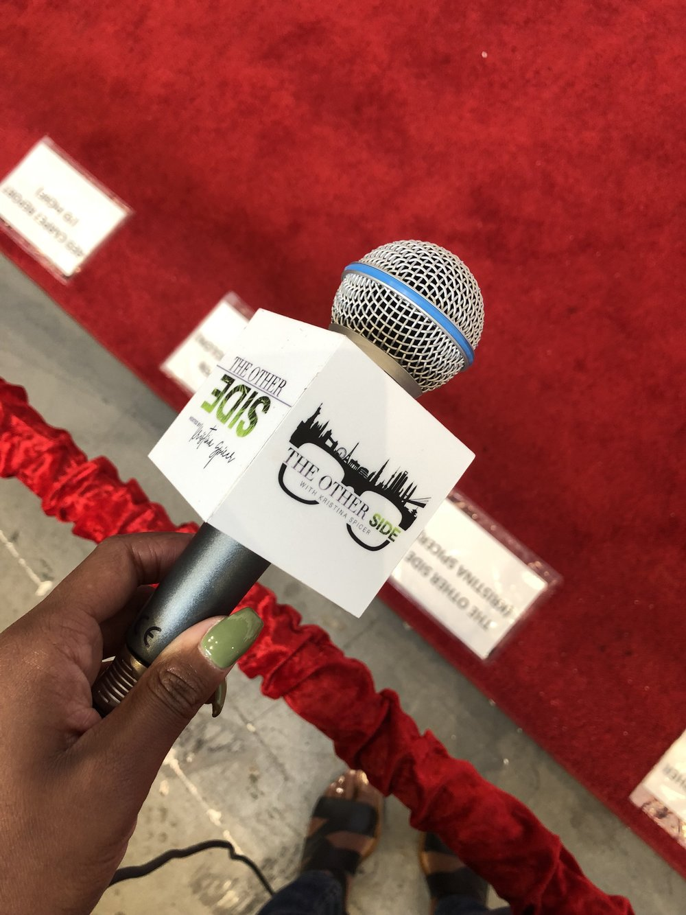 You better werk with the fresh mani/pedi to match your branded mic!! Kristina pictured here, preparing to kill it on her first red carpet experience for  The Other Side.