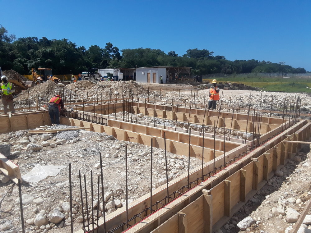 Foundation work for the substation infrastructure.