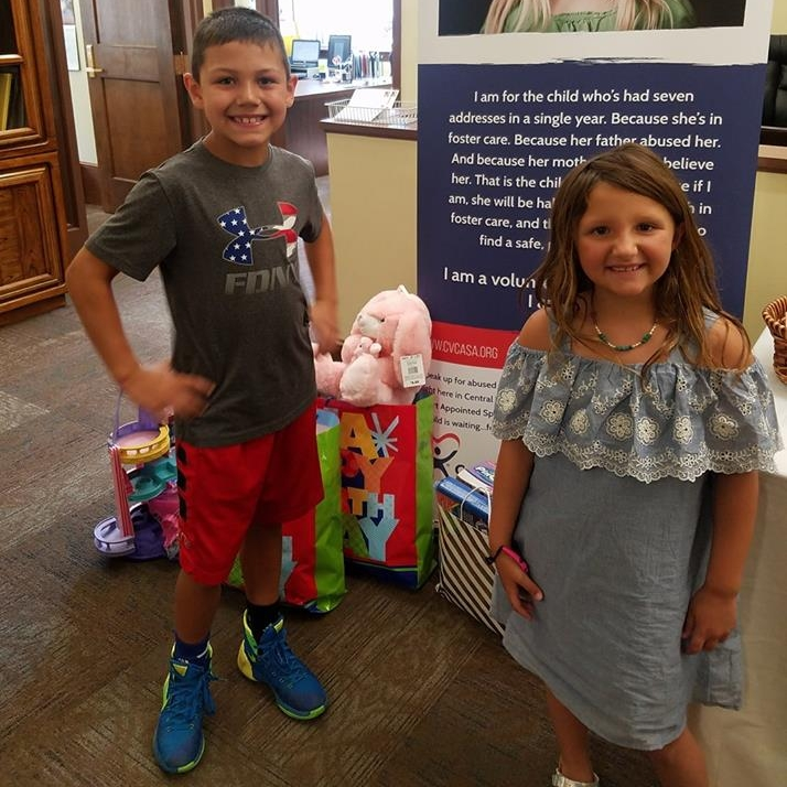 June - Our Facebook post on when Josie and Jett donated their birthday toys to the CASA Kids Korner.