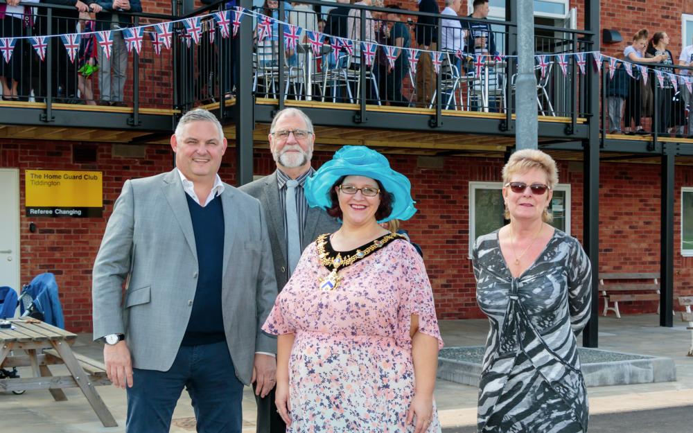 Mark Booth, Norman Malins, Councillor Victoria Alcock and Carol Fletcher