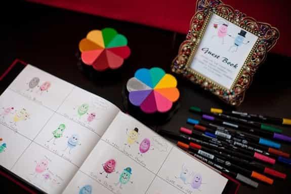 蓋指印在Wedding Tree上已經不稀奇了,指印藝術當道!讓賓客在指印上發揮他們的創意吧。