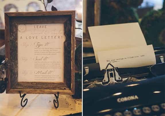 喜歡打字的新人有福了!打字機非常適合復古主題呢。