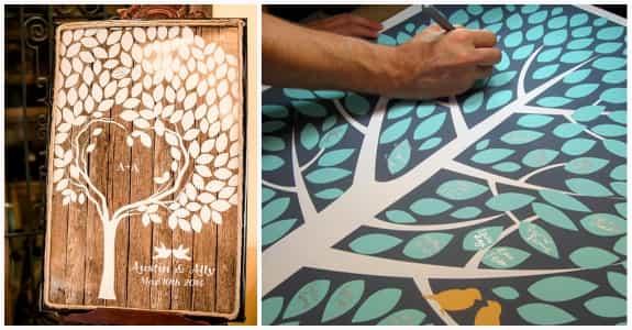 樹的概念在婚禮非常常見呦!完成的作品還可以掛在新人家中當紀念品呢。