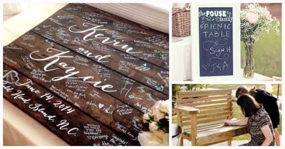 把家裡的木製傢俱搬到婚禮現場讓賓客簽名,之後每一天都可以看到囉!