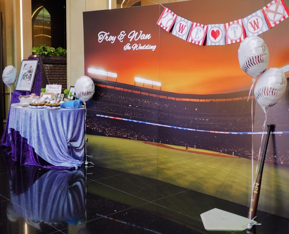 棒球風婚禮