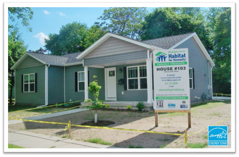 Lincoln Street, Muskegon MI  is a single family home that contains 1,476 sq ft and was built in 2017. It contains 3 bedrooms and 1 bathroom.
