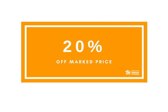 Orange Tags - 20% Off Marked Price
