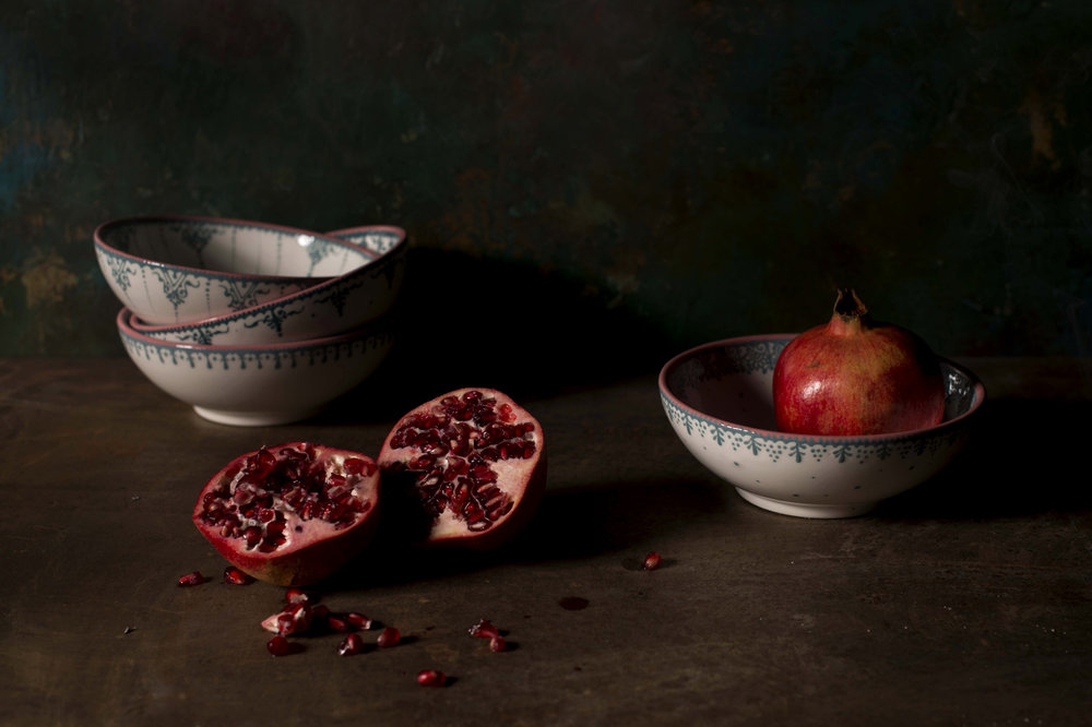 Complementing Humna's designs with these pomegranates worked so easily.