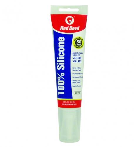 0810 - 2.8oz White 100% Silicone