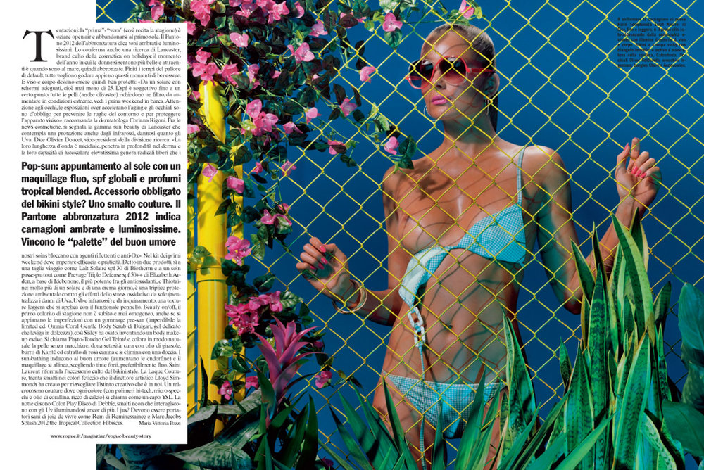"""Beach Dreams"", Vogue Italia"