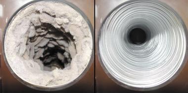 Dryer Vent Before & After