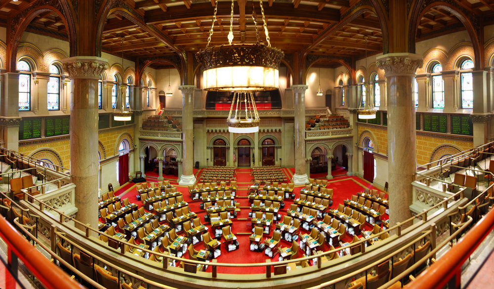 The NYS Assembly Chamber