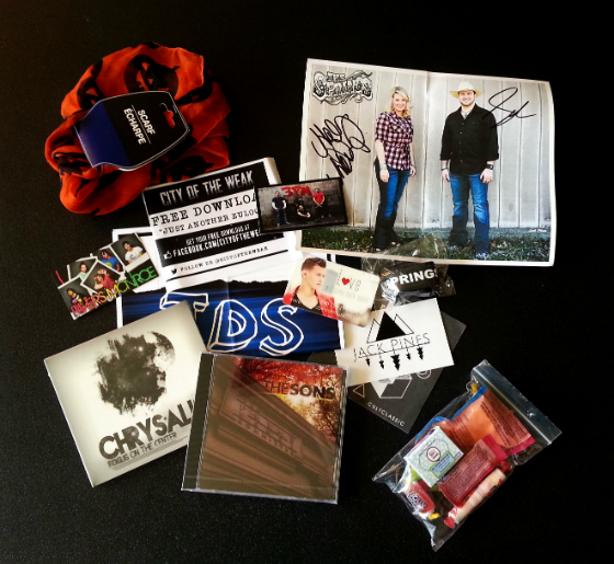The Music Box Subscription - This smart subscription service introduces brave music fans to new artists with a range of items you can purchase from CD compilations to t-shirts to stickers and more.