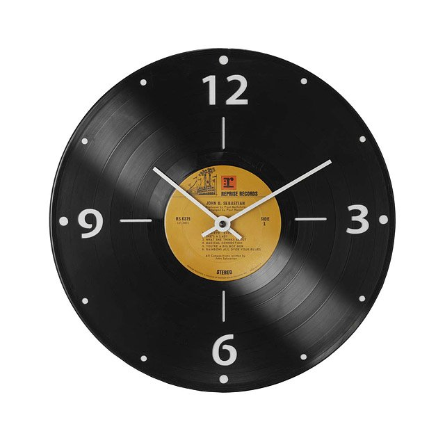 Record Clock - Wall decor makes or breaks a room. With this cool clock made from a vintage vinyl record (your choice of jazz, soul, 80s, or rock), you can't go wrong.