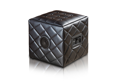 Bluetooth Ottoman Speaker - This elegant and minimally designed ottoman isn't just an ottoman. It's a speaker that can be hooked up to your Apple or Android device to play your favorite music while you relax.