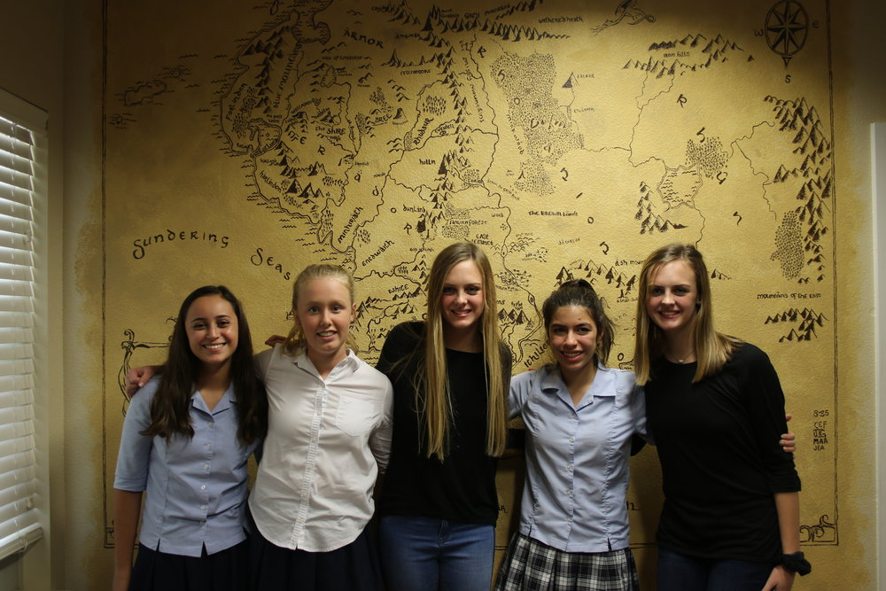 From left to right: Jayne Goodman, Brooke Secor, Abby Albrecht, Catarina Flores and Elle Albrecht.