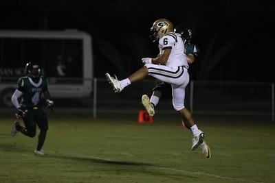 Sophomore Joel Calderon jumps up to grab an incoming pass.
