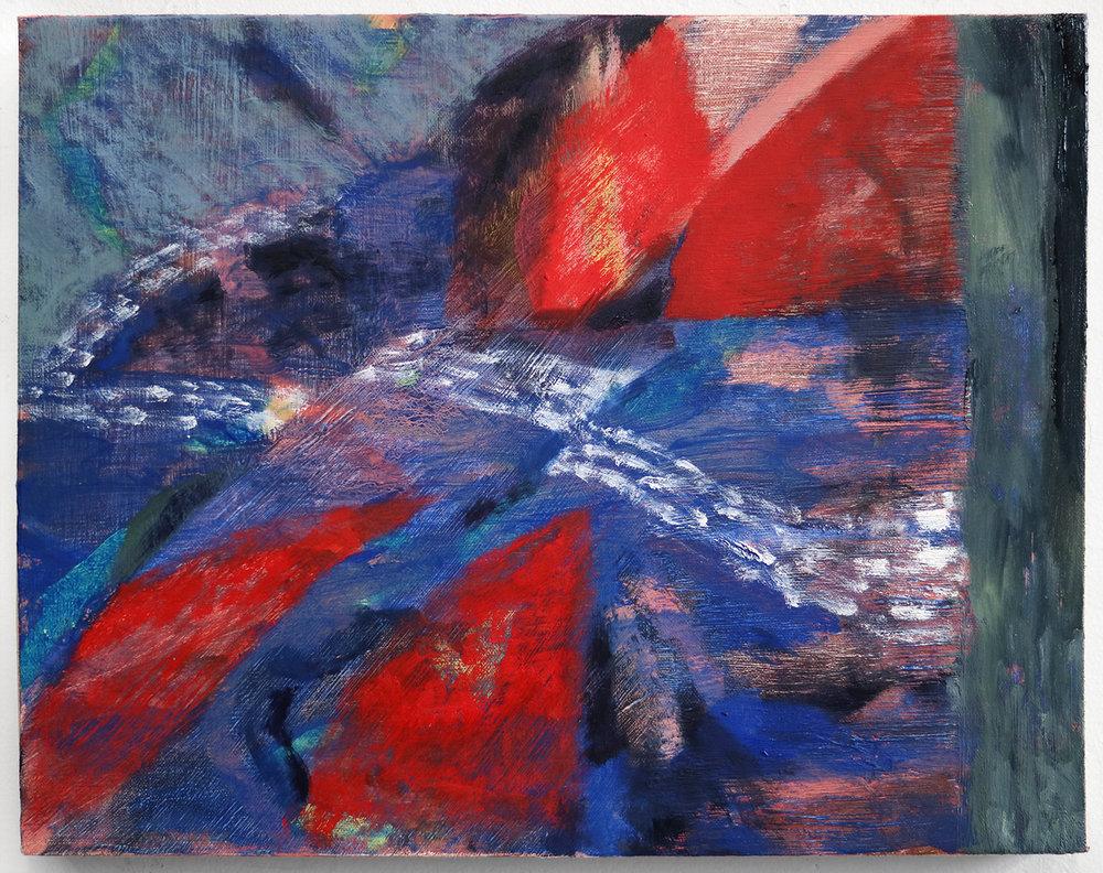 """Lumin Wakoa, """"wake"""", 2017, Oil on linen, 11 x 14 in"""