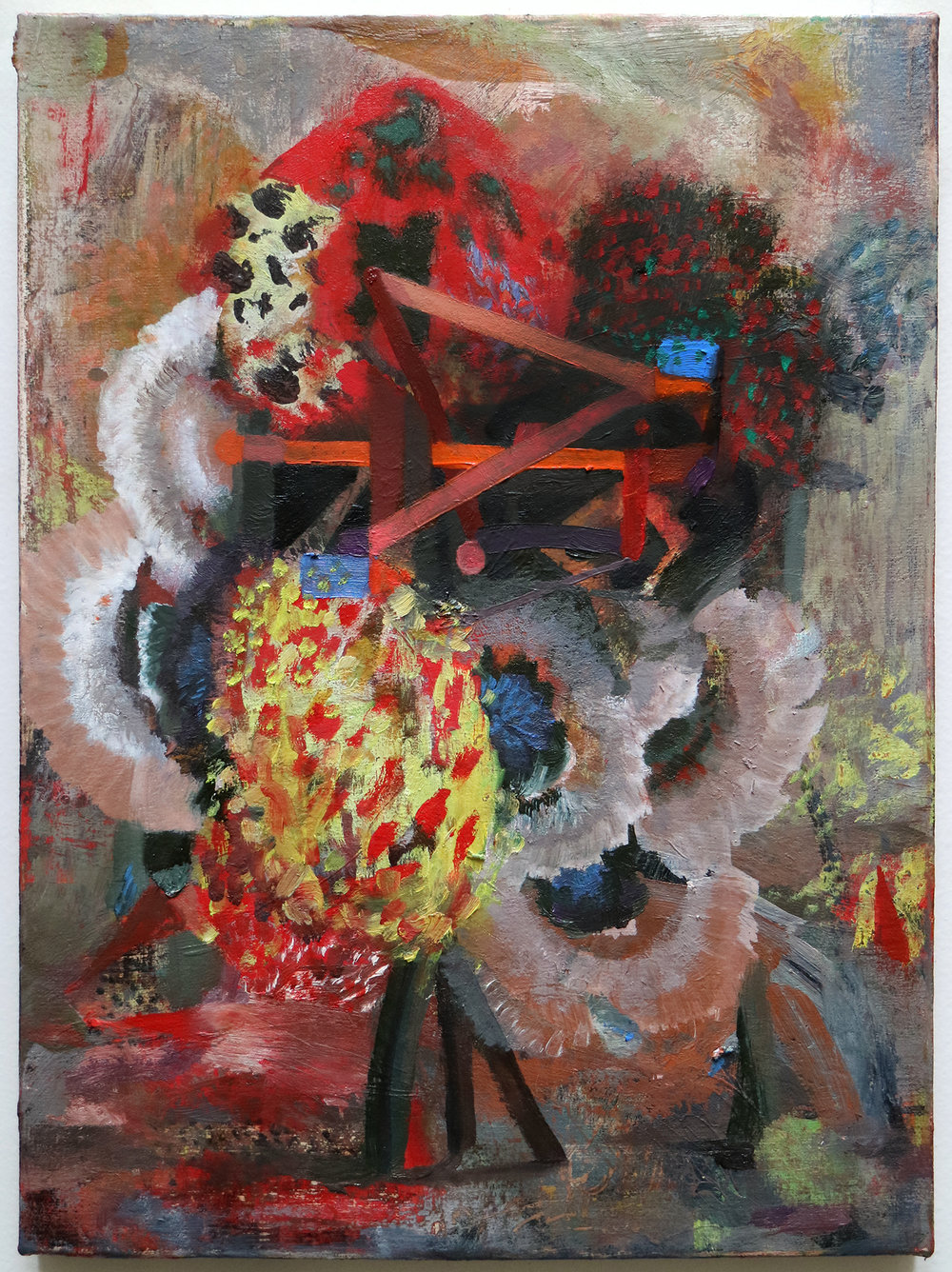 """Lumin Wakoa, """"spinning"""", 2017, oil on linen, 12 x 9 in"""