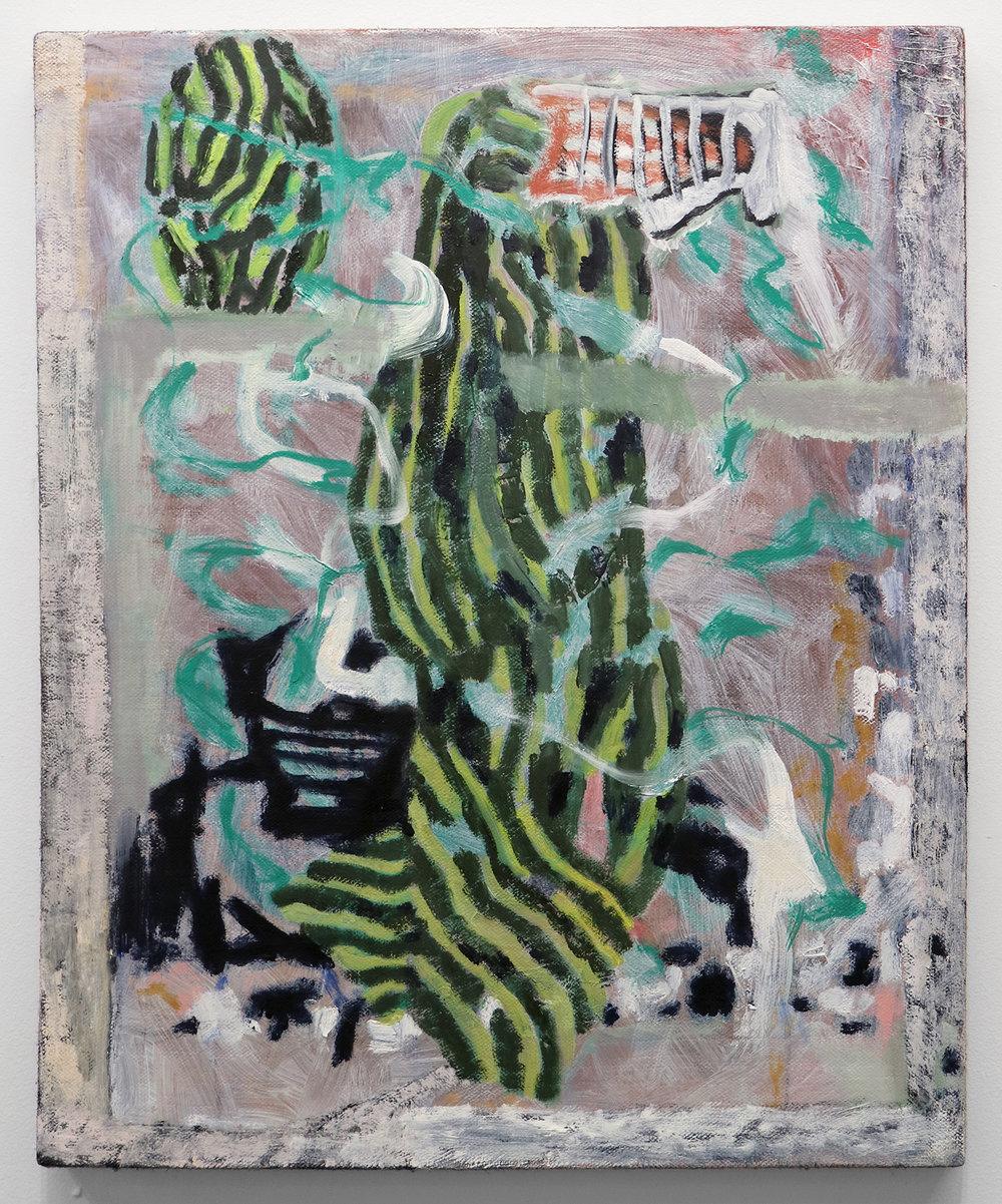 """Lumin Wakoa, """"robe"""", 2018, Oil on linen, 24 x 20 in"""