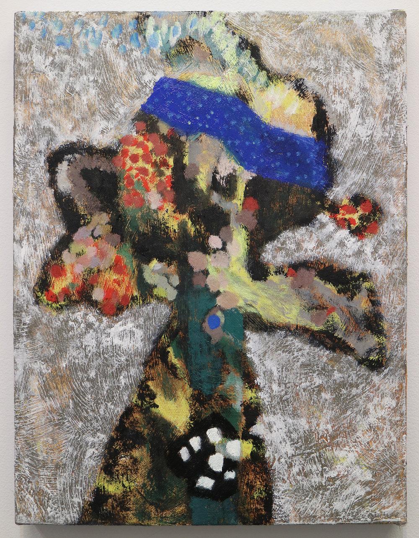 """Lumin Wakoa, """"vase of flowers"""", 2018, Oil on linen, 20 x 16 in"""