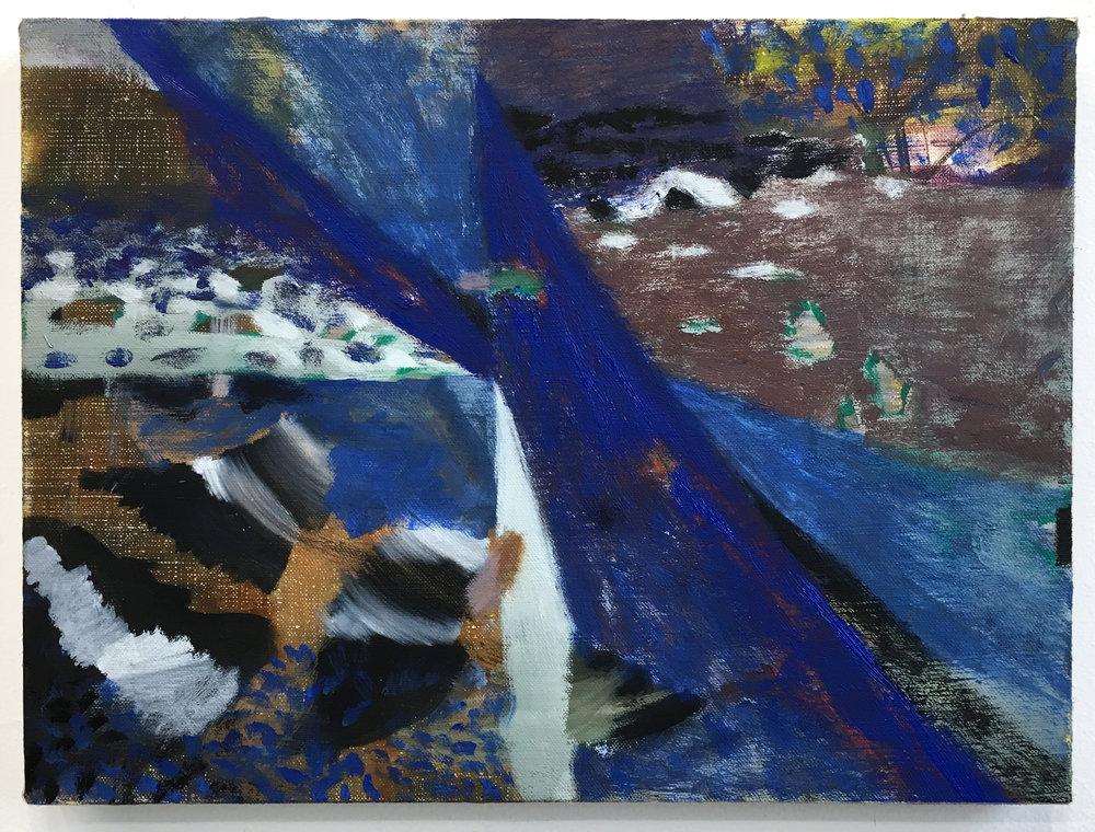 """Lumin Wakoa, """"gulls"""", 2017, Oil on linen, 11 x 14 in"""