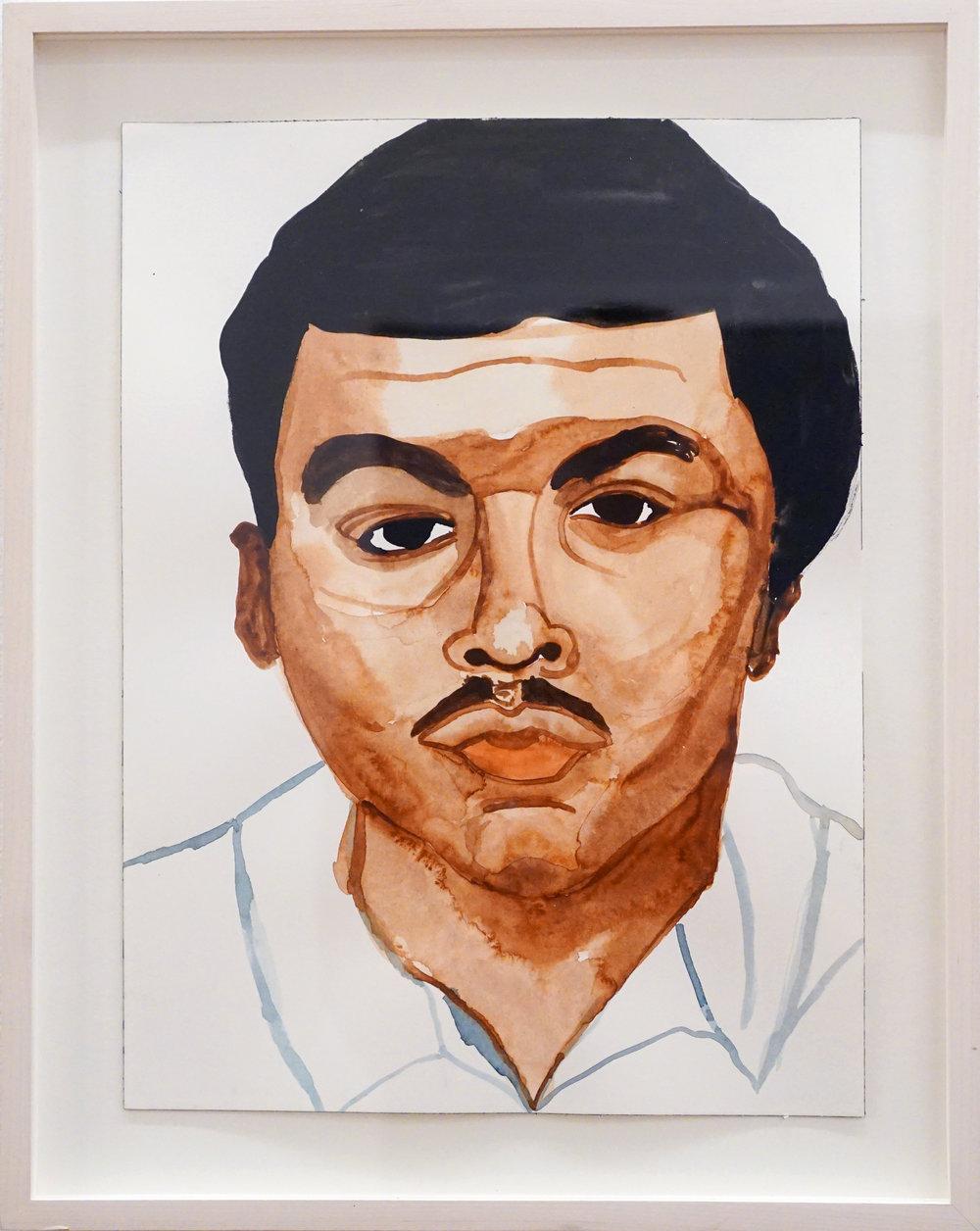 Rudy Shepherd, Sean Bell , 2006, Framed watercolor on paper, Framed dimensions: 15 x 12 in