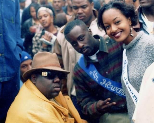 Biggie Smalls and Mr. Howard Lamonte Geddis and Miss. Howard LaChanda Jenkins at Howard Yardfest
