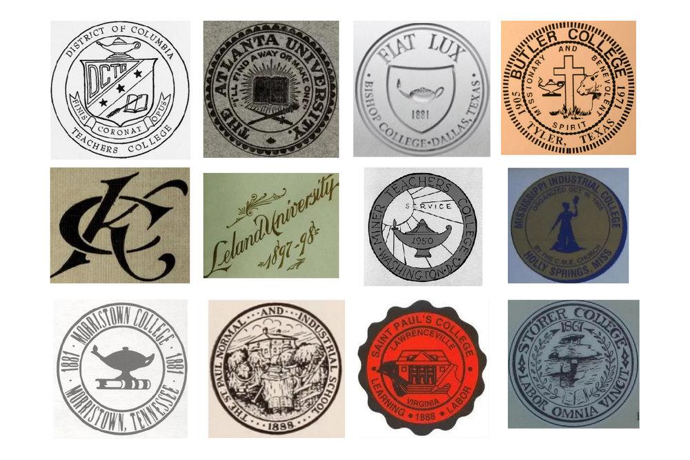 Seals of Defunct Black colleges