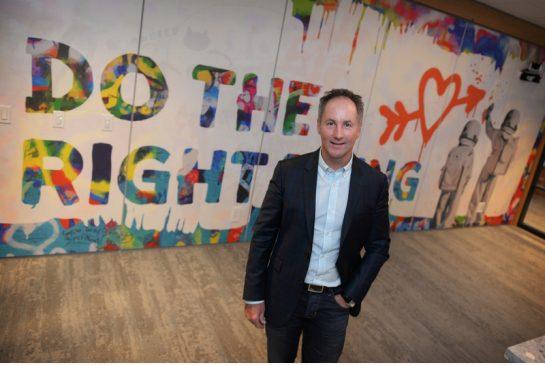 JENNIFER FRIESEN / CALGARY FREELANCE CEO of Benevity Bryan de Lottinville launched the tech-based company's new office in Bridgeland.