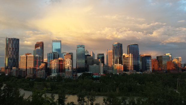 The skyline of downtown Calgary, as seen from the ridge above the north bank of the Bow River. Calgary Economic Development is now working on a new economic strategy for the city's next 25 years. (Leslie Kramer/CBC)