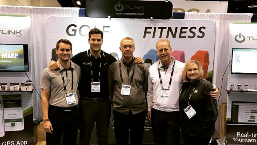 Derek Rucki, CEO and Co-founder of TLink Golf (pictured far left)