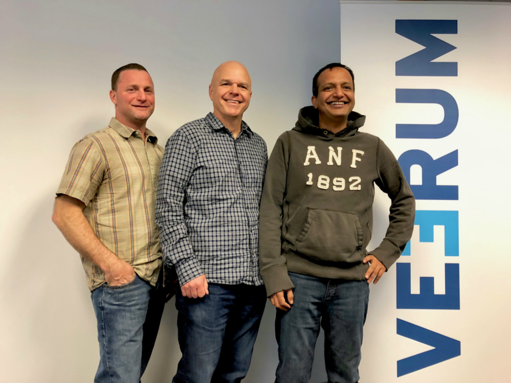 VEERUM Co-Founders L-R: Steve Fisher, Scott Benesh, Amit Varma