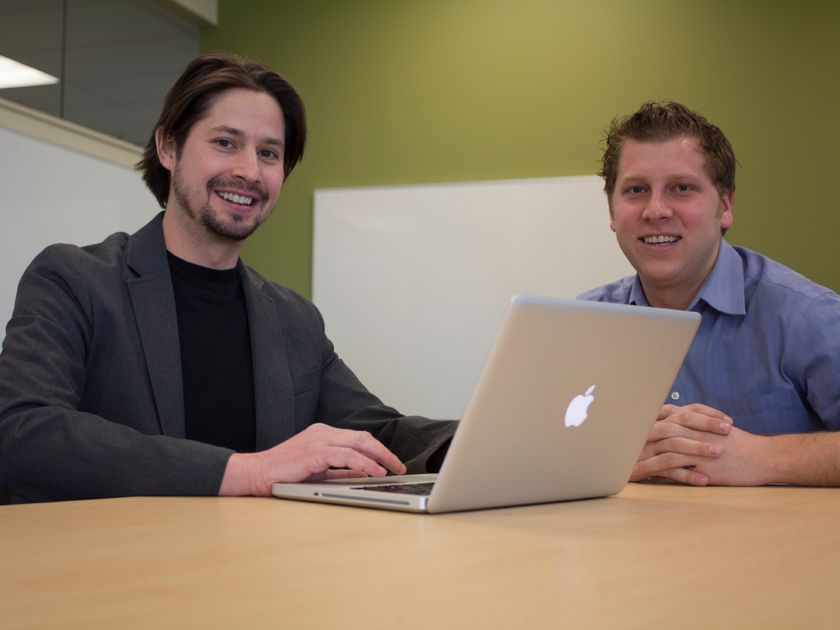 Steven Kenway (left) and Brent Lauinger (right), Co-founders of Repree by NexOne. Photo Credit: Calgary Herald