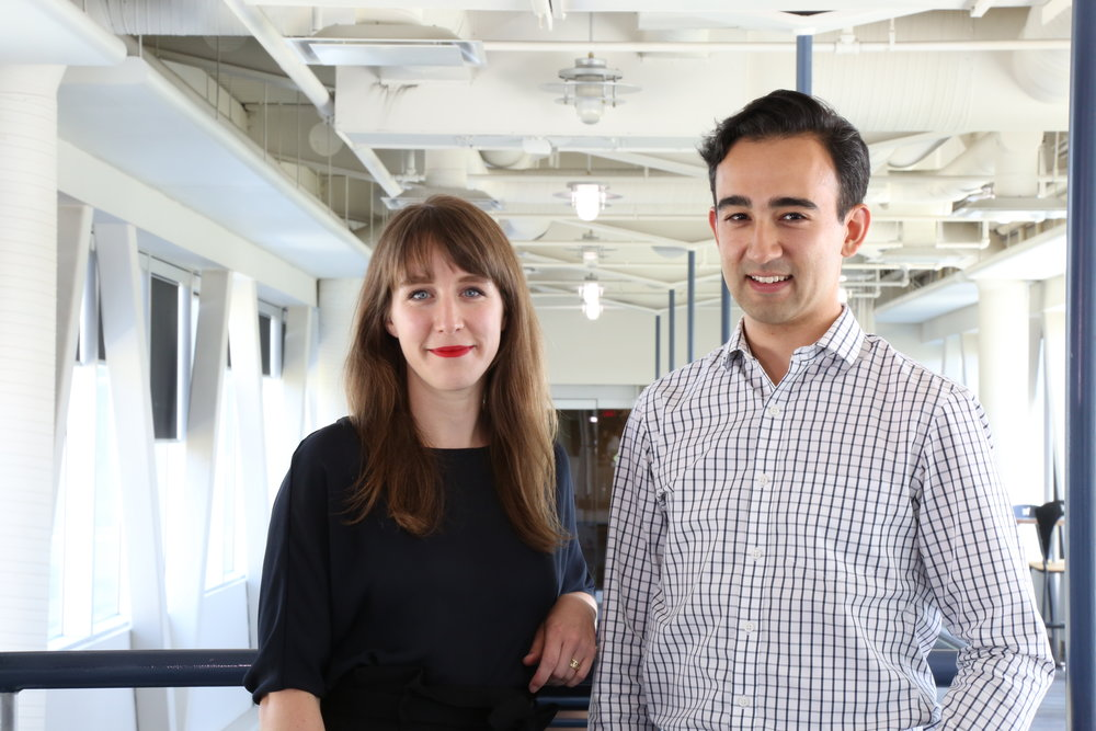 Mikata Health Co-founders L-R: Meaghan Nolan, Kyle Nishiyama.  Photo credit: Ankur Desai at Calgary Technologies Inc.