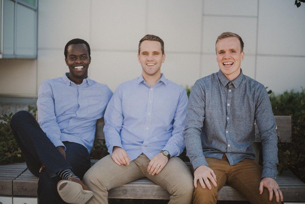L to R: Co-founders Marc Nzojibwami, Adam Prince & Richard Clark