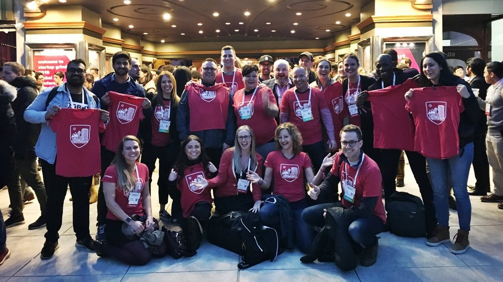 Calgary group photo featuring Bootkik, Bridgewater Labs, healthgig, Ingu Solutions, TWT Group, The App Guys, Virtual Gurus, and more.