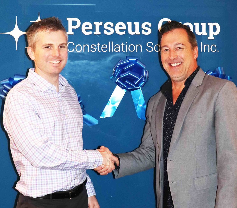 L to R: Chris Graham, Vice President of Constellation HomeBuilder Systems and Milo Anderson, Director/Founder at NewHomeListingService.com
