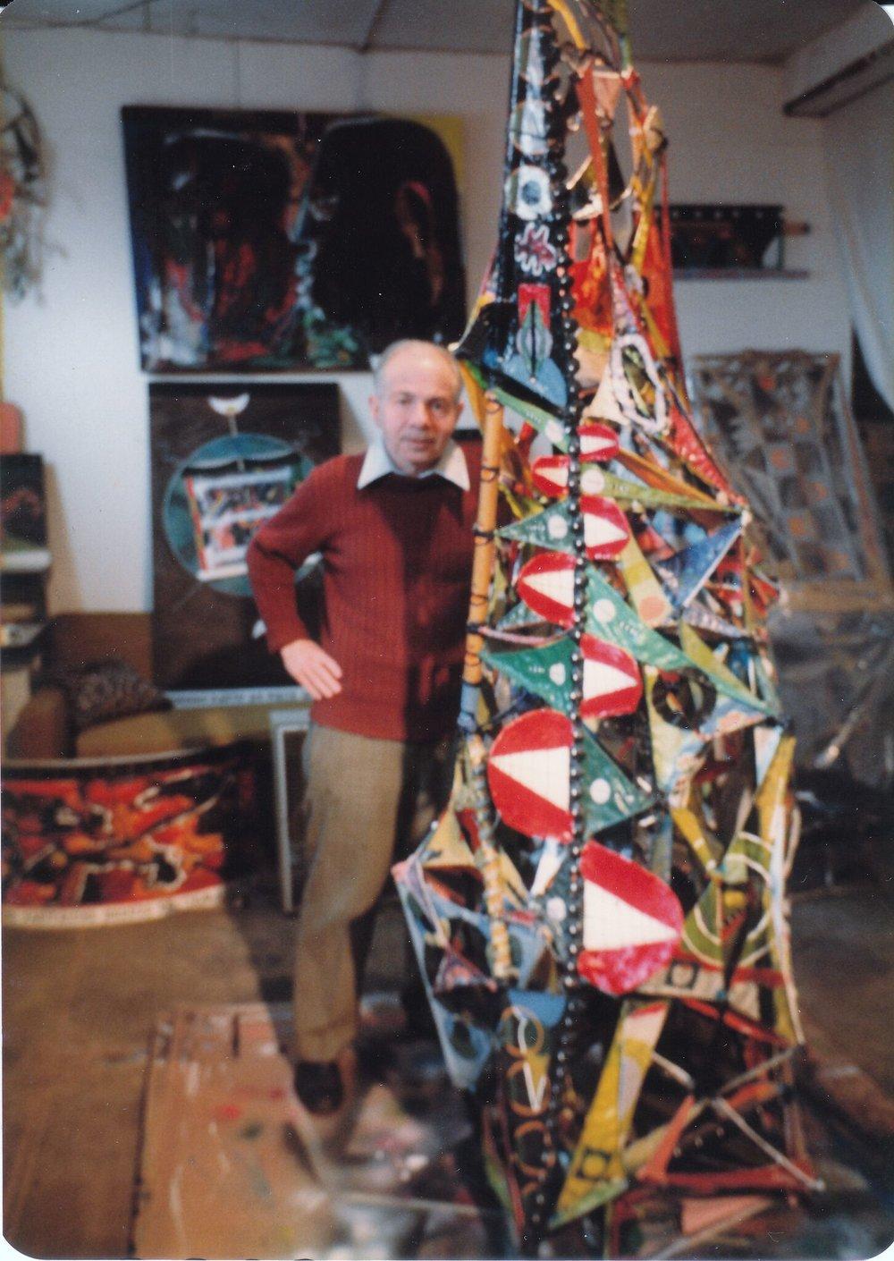 Herb Vogel in Williamsburg, Brooklyn Studio, 1983