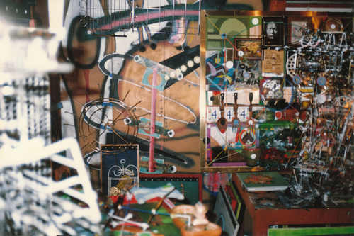 Interior view of Johnson's Virginia Beach studio, 1994