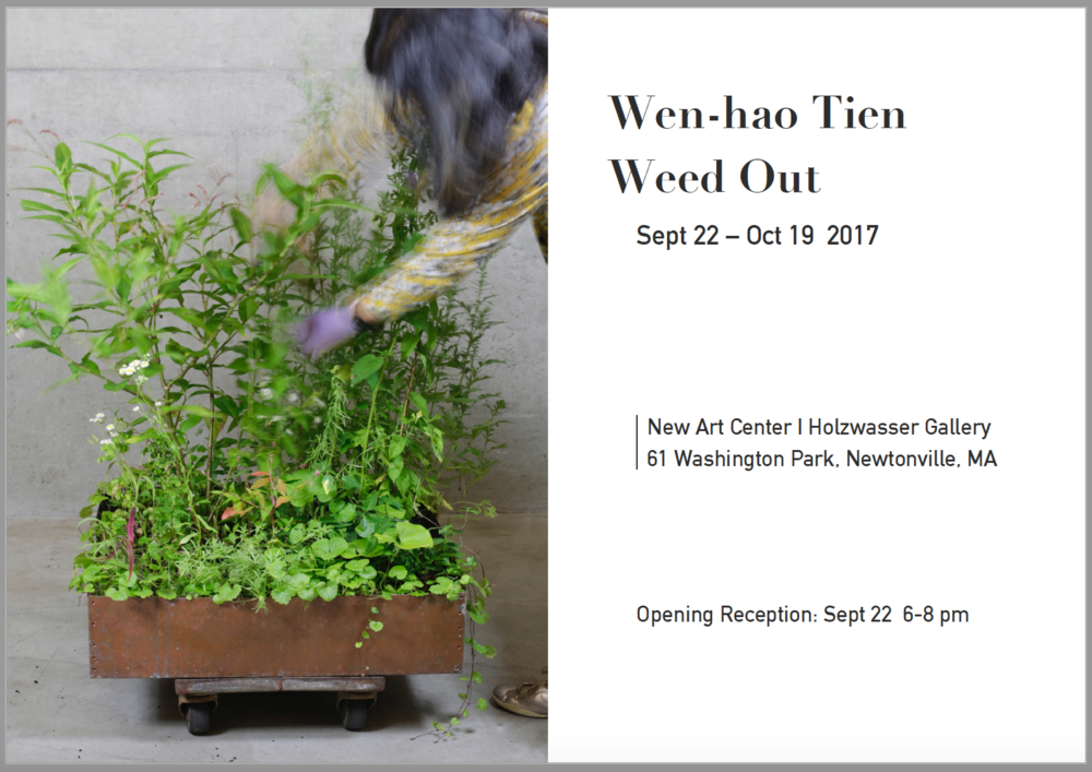 "New Art Center9/22-10/19. 2017 - ""This installation contemplates the idea of wantedness and unwantedness, control and letting go, alienation and belonging, as well as the wholeness of our society."""