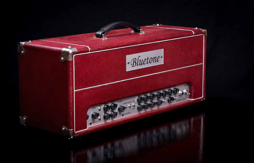 Bluetone Ocean Custom Head Red tweed
