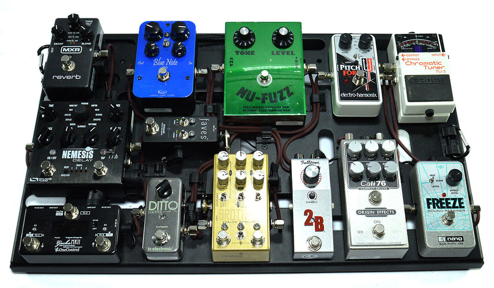 Jussi Jaakonaho pedal board