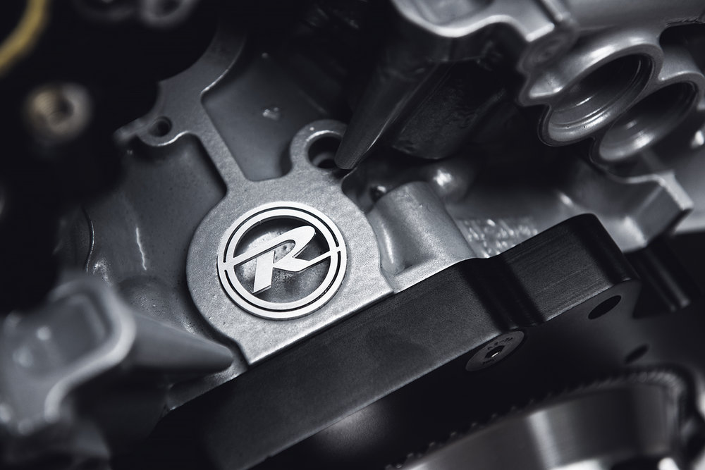 Rocketeer engine badge detail