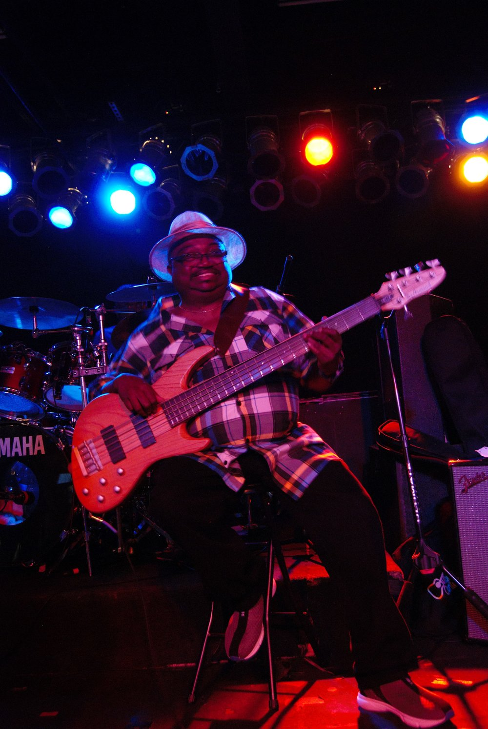 Andre Gilmore - Bassist, André Gilmore, is the founder and CEO of Code Sweat since its conception in 2007. This Chicago native started his career with the band Magic Mist in 1975, and went on with other groups such as Miki Lewis & Startime and Cash & Carry. André has had the honor to play alongside R & B greats the Staple Singers, and as part of Magic Mist, with Teddy Pendergrass, SOS Band, the Isley Brothers,Curtis Blow, the Emotions, Denise Williams, and the Godfather of Soul, James Brown (1980). His influences as a bass player include Larry Graham (Graham Central Station), Bootsie Collins, Verden White (Earth, Wind & Fire), but include other musicians such as Jimmy McGriff, Gene Ammonds, James Brown, and legendary singer Lou Rawls. But the biggest influence in André's musical involvement was his father, Harold Gilmore, a percussionist who sat in with other Chicago area musicians during the 1950s and 60s and who started him and his brothers to play music.
