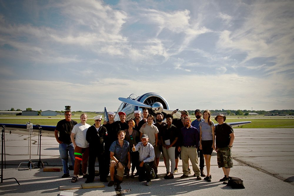 The cast & crew at the end of the first day of production